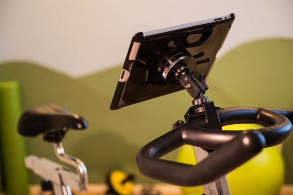 Mount an iPad Tablet on an Exercise Bike, Treadmill or Stair Climber
