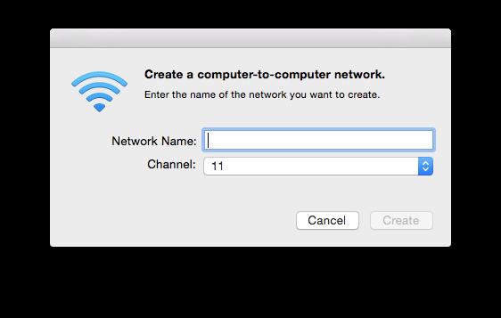 network dialog