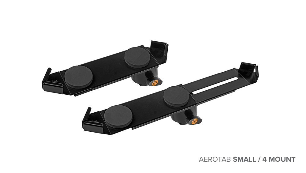 The AeroTab Small compressed and fully expanded