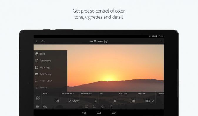 Lightroom Mobile for Android Adds RAW Support