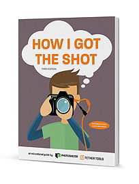 A rendering of a book with How I Got the Shot on the cover