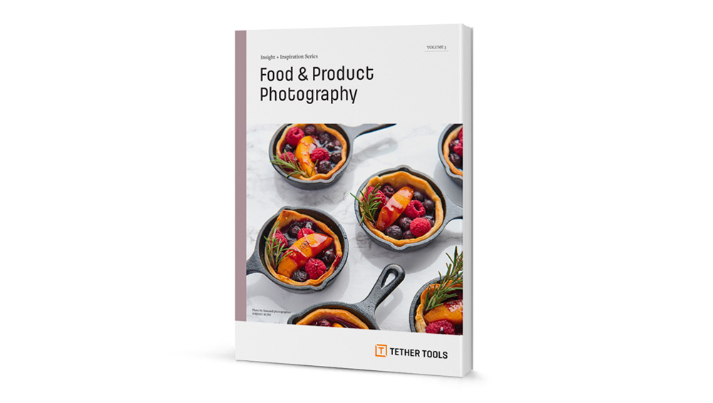 A rendering of a booklet titled: Food & Product Photography
