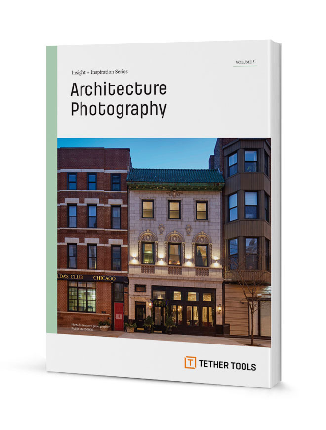 A book with a title that reads: Architecture Photography